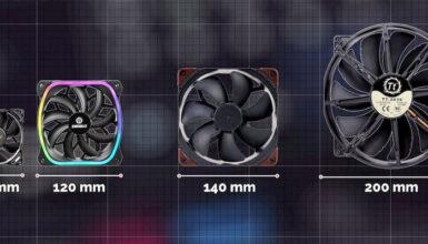 Pc case fan sizes