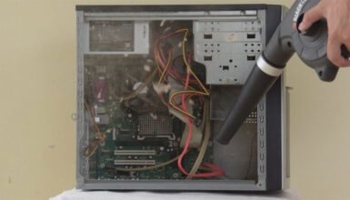 How to clean a PC case
