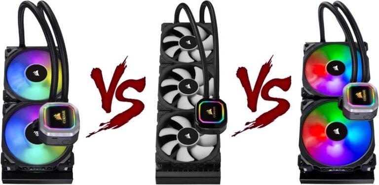 Corsair H100i vs. H150i vs. H115i
